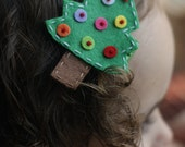 Adorable Christmas Tree Hair Clip - Meet Tinsel