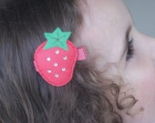 Boutique Strawberry Hair Clip - Meet Miss Shortcake
