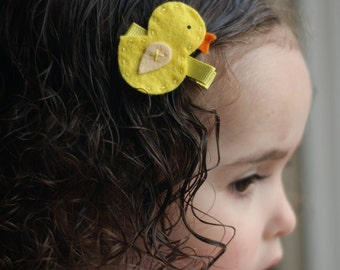 Cute Chick Hair Clip - Meet Miss Chloe (Treasury Item)