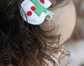Snowman Hair Clip - Meet Frosty