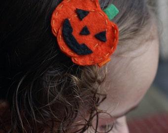 Halloween Pumpkin Hair Clip - Meet Pumpky