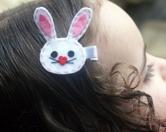 Boutique Bunny Clip - Perfect for Easter - Meet Miss E. Bunny