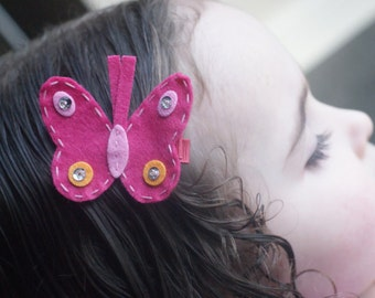 Boutique Butterfly Hair Clip - Meet Miss Mariposa - MORE COLORS