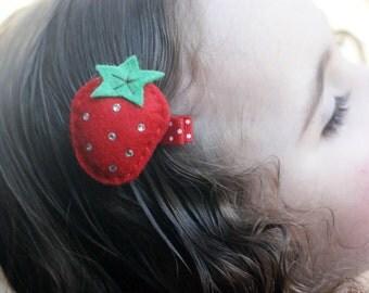 Boutique Strawberry Hair Clip - Meet Miss Shortcake