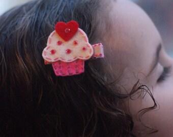 Boutique Cupcake Hair Clip - Meet Cuppiecake (Treasury Item)