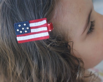 Meet Miss Glory - The American Flag Hair Clip - Perfect for 4th of July