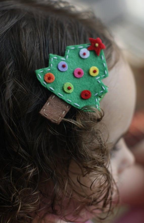 Adorable Christmas Tree Hair Clip - Meet Tinsel