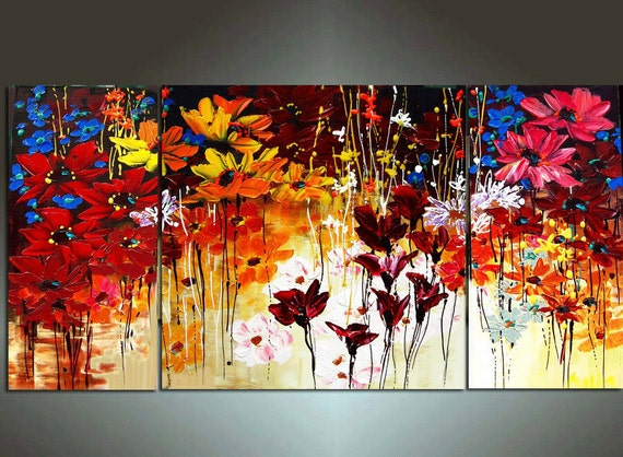 48'' Original Contemporary Palette Knife Fine Art Painting Abstract Textured Ready to Hang