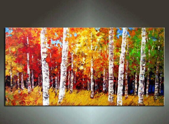 48''  HUGE Original Contemporary Palette Knife Fine Art Painting Ideal For Your Sofe Abstract Textured Ready to Hang 48''x24''