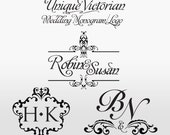 Victorian Wedding Monogram/Logo - Custom