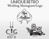 Retro Wedding Monogram/Logo - Custom