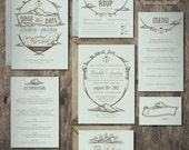 Over the Cloud Wedding Invitation Suite Design --------- Deposit to get started