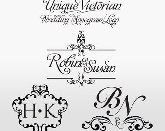 Victorian Wedding Monogram/Logo - Custom