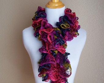 Laced Fashion Scarf ( Blue, Green, Purple, Pink , Maroon ) Free Shipping Coupon Code is HOLIDAY