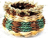 Hand Woven Basket,  Rustic, Home Decor, OOAK, Handmade, House Warming Gift, Custom Order