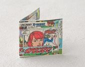 Uncanny X-men Phoenix wallet recycled rare vintage marvel comic book female superhero heroine, superheroes comics bifold bi-fold