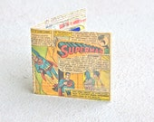 Superman Wallet featuring the batman and robin, the boy wonder recycled comic book vintage dc rare comics handmade bi-fold superhero bifold