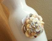 Seashell Art Flower Vase, Beach House Decor