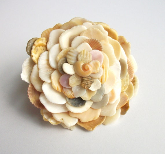 Seashell Ring, Shell Flower Jewelry
