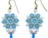 PDF File Tutorial for Snowflake Beadwoven Earrings