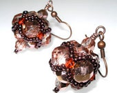 PDF File Tutorial for Crystal Cluster Beadwoven Earrings