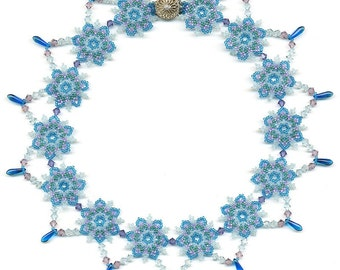 PDF File Tutorial for Snowflake and Icicle Beadwoven Choker