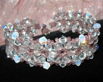 PDF File Tutorial for Crystal Lace Beadwoven Bracelet