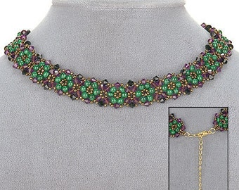 PDF File Tutorial for Crystal Lace Beadwoven Choker