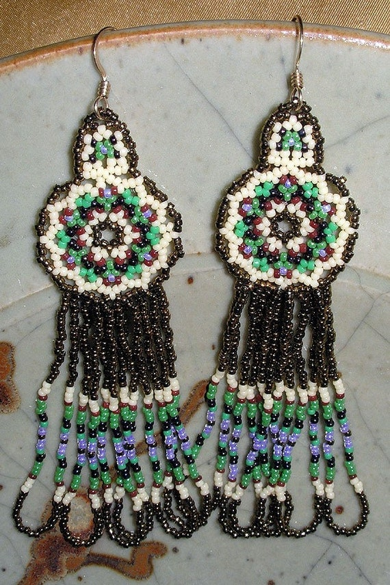 PDF File Tutorial for Mandala Beadwoven Earrings