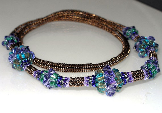 PDF File Tutorial for Crystal Ndebele Beadwoven Necklace