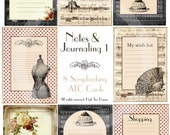 NOTES & JOURNALING 1 - Instant Download - Shopping List - Wish List - Labelling -Tags