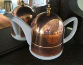 Porcelain Teapot With Copper Cozy
