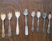 Demi Tasse Spoons, Dessert Forks, and Jam Spoon