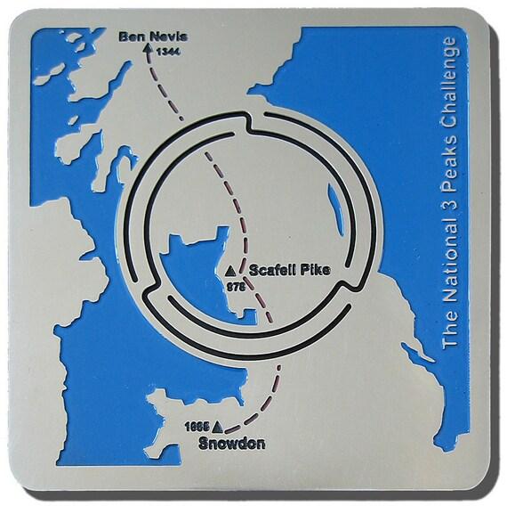 National 3 Peaks Challenge Map'n'lite tea light holder