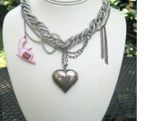 Sterling Puffed Heart Valentine from the Danger Collection