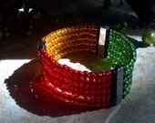 Melanoma Awareness Bracelet- Seed Beads