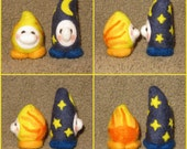 Needle felted gnome set - Sun and Moon - RESERVED FOR Louise