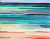 "Fine Art PRINT, Abstract Seascape ""Jobson's Cove, Bermuda"" 12x16"