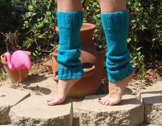 Leg Warmers In Bright Turquoise
