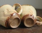 Set of blue eyed mugs