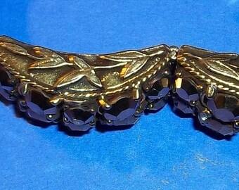 Signed Vintage Bracelet Hobe 1965 Comet Aurum Rhinestones Oriental Motif Simply Breathtaking Estate