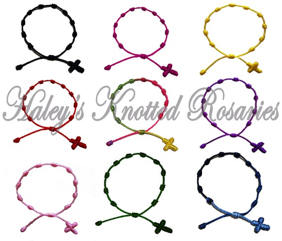 Hand Made Knotted Rosary Bracelet - Choice of Color