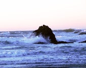 And The Sea... 8x10 Fine Art Photography Ocean View Gift for Her Gift for Him Blue Green Pink Yellow Natural Nature