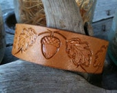 Leather Acorn Wristband - CoastalMaineCreation