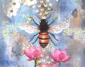 Archival original print Bee Lessons