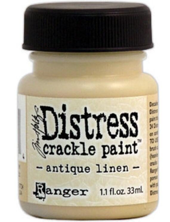 Tim Holtz Distress Crackle  Paint Antique Linen