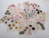 20 Cards Of Vintage Buttons From Old Stock