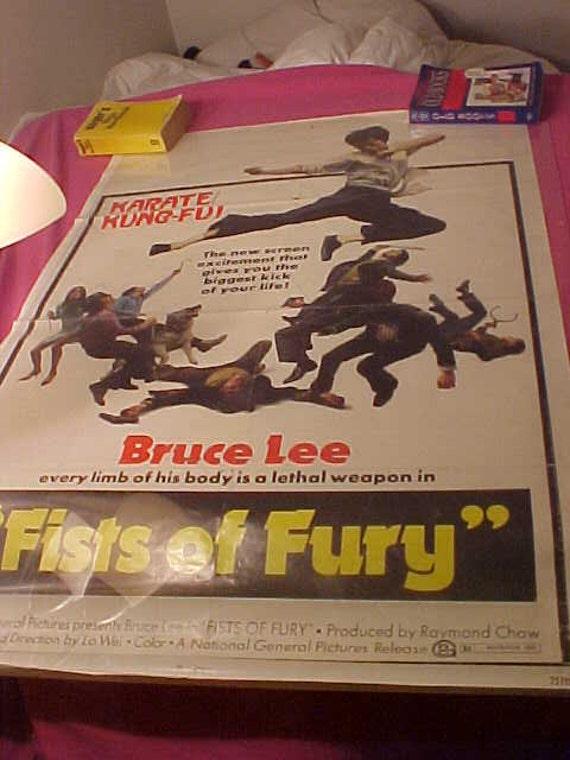 Vintage 73/112 Bruce Lee Movie Poster 1 Sheet 1973 Fist of Fury