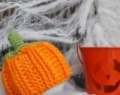 HUGE SALE READY To Ship - Crochet pumpkin baby hat