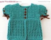HUGE SALE READY To Ship - Crochet baby girl cardigan